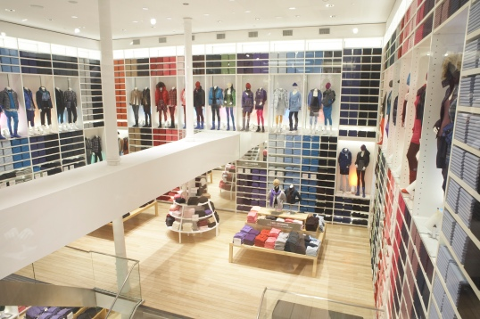 Inside Uniqlo - SOHO NYC